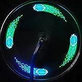 【 時間 で 形 が 変化 】 防水 LED ホイール ライト 14灯 20 インチ 以上 電池 式 ロード レーサー 夜 イルミネーション MI-CYLED