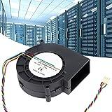 Ventilatore, 12V 3.8A 190CFM 45.6W 7500 RPM Ventilatore centrifugo Doppio cuscinetto a sfera Ventilatore d'aria Ventilatore Accessorio per barbecue