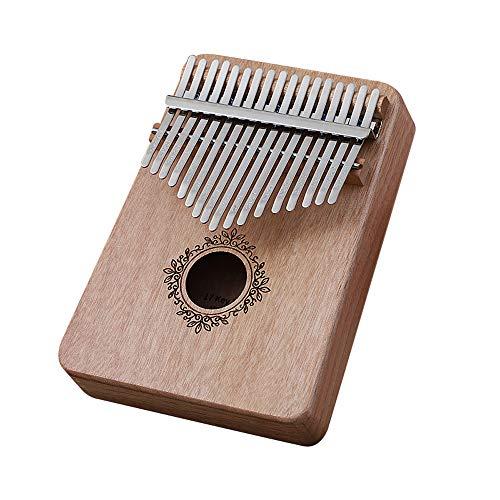 Kalimbra em Madeira com 17 teclas, Piano de Dedo, Instrumento Musical Africano - Loijon