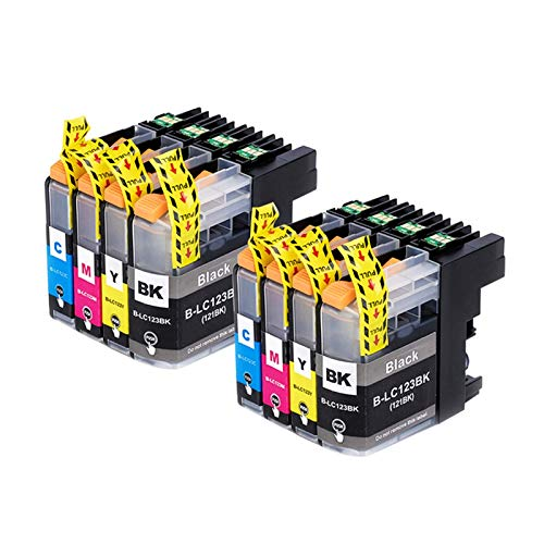 CMDZSW Cartuchos de Tinta compatibles para Brother LC 123 MFC J4410DW J4510DW J270DW DCP J4110DW J132W J152W J552DW Printer XL (Color : 2 Sets)