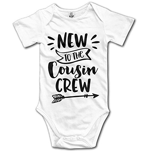 New to The Cousin Crew Unisex Baby Summer Comfortable Climbing Clothes Romper Jumpsuit One-Pieces Bodysuit White