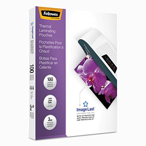 Price comparison product image Fellowes 52454 Laminating Pouches 100pk Clear