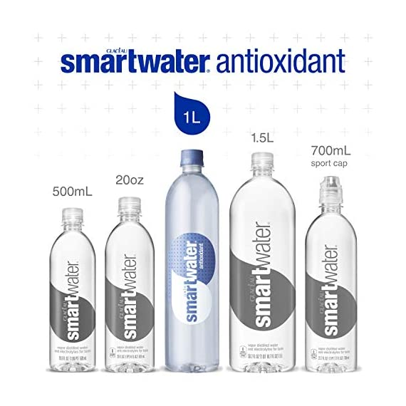 Smartwater antioxidant, 33. 8 fl oz bottles, pack of 12 2 purity you can taste. Hydration you can feel. Your newest way to hydrate the smartwater you love with a smart new twist. Vapor distilled water for purity, added electrolytes for taste and now infused with antioxidant selenium. Smartwater antioxidant water is the same crisp, clean water you love, it's vapor distilled, with added electrolytes for taste and infused with antioxidant selenium.