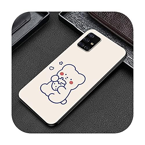 Cute Lovers Bear - Funda para Samsung A51 A71 5G A50 A70 A41 A40 A31 A30 A21s A20s A20e A12 A11 A10 A02 Smart Phone Coque Cover Bag -B08-para Samsung A20s