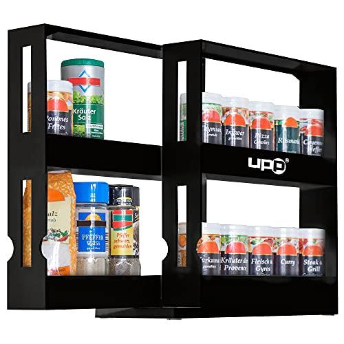 UPP estantería para Especias I especiero Extensible de plástico I cajón Organizador retráctil para condimentos y Especias I estantería, Estante de Almacenamiento Vertical retráctil