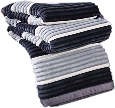 Stripe Blanket King Size – Soft, Plush, Fluffy, Warm, Cozy – Perfect Throw for Couch, Bed, Sofa,Gray,150200cm