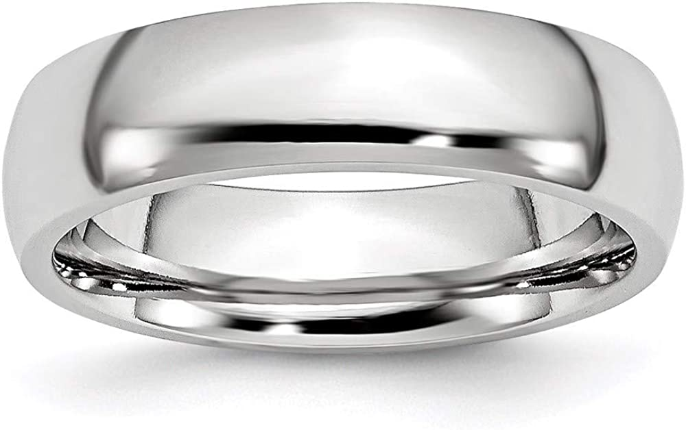 ICE CARATS Cobalt 6mm Half Round Wedding Ring Band Classic Domed Fashion Jewelry for Women Gifts for Her