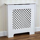 Home Discount - Mueble para radiador Oxford, Color Blanco, diseño Tradicional Pintado de MDF,...