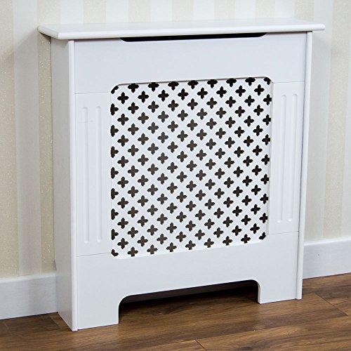 Home Discount - Mueble para radiador Oxford, Color Blanco, diseño Tradicional...