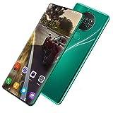 Teléfono Móvil Smartphone para Personas Mayores 215GB ROM Pantalla 6.7' (19:9) Water-Drop Screen Movil, 13MP+24MP, 4800mAh Batería, Android 10.0 Dual SIM (Color : Green)
