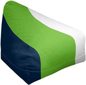 ArtVerse NFS Seattle Football Stripes Bean Bag w/Filled Insert, 27 x 30 x 25, Green Accent