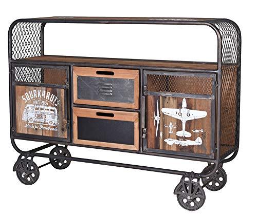 Barwagen Bauhaus Servierwagen Anrichte Hausbar Fabrik Teewagen lof055 Palazzo Exklusiv
