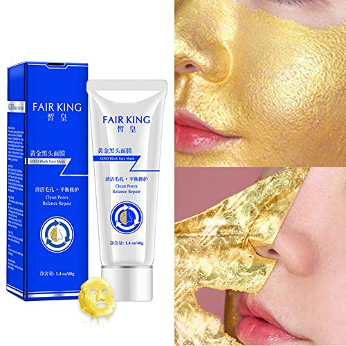 Luckine Gold Mask Blackhead Remover Face Peel Off Mask Beauty Remover Blackhead Fango di pulizia profonda