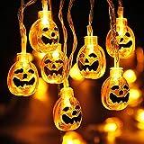 Weekend&Lifecan Halloween Pumpkin Lights,Ghost String Light, Halloween Fantasma Light, Fantasma String Light, Halloween led String Lights, lámpara de decoración de Halloween (Color)