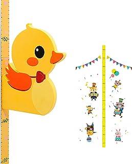 YHomU Nursery Bedroom Girls Boys Kids Height Sticker Set Cartoon Decorative Printed Self Adhesive Removable 3D Cute Height...