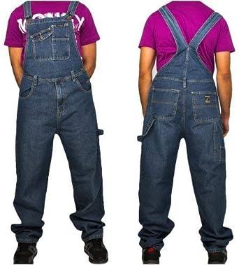 Peviani Mens, Ladies, Classic Dungarees, Urban Denim Loose fit Denim Dungaree Overall Carpenter Jeans