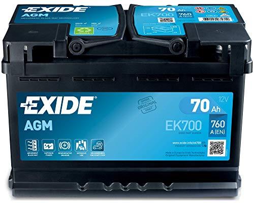 Exide 096 AGM - Batería para coche (70 Ah, AGM700 EK700)
