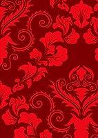 igsticker ポスター ウォールステッカー シール式ステッカー 飾り 1030×1456㎜ B0 写真 フォト 壁 インテリア おしゃれ 剥がせる wall sticker poster 003713 チェック・ボーダー 模様 エレガント 赤