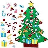 TATAFUN Árbol de Navidad del Fieltro de los 3.1FT DIY fijó + los Ornamentos Desmontables 26pcs, Regalos Colgantes de Navidad de la Pared para Las Decoraciones de la Navidad