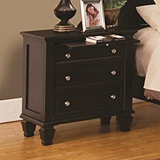 Coaster Home Furnishings Sandy Beach 3-Drawer Nightstand Cappuccino