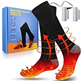 Heated Socks for Women Men,Heating Socks with 3 Heat Settings, Rechargeable Washable Warm Winter Cotton Thermal Socks for Hunting/Outdoor Camping/Skiing/Hiking/Indoor Sleeping