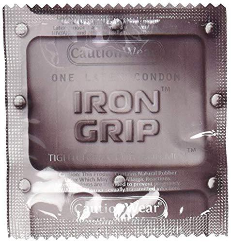 80Pcs Caution Wear Iron Grip Snugger Fit Small Condoms (80 Pack)
