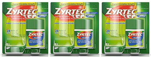 Zyrtec Tablets, 10 Mg itRBUO, 3Pack (70 Count)