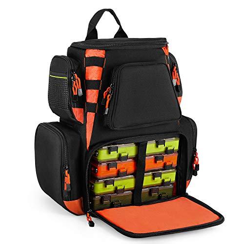 Magreel Angelrucksack, groß wasserdichte Angelgerät Tasche Multifunktionale Taschen zum Angeln Camping Wandern Radfahren