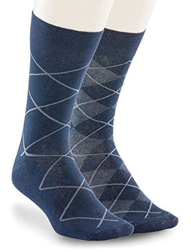 Harbor Bay by DXL Big and Tall 2-Pack Argyle Socks