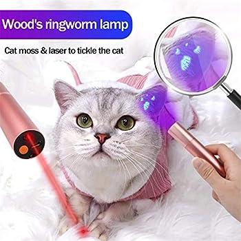 EMGOD Lampe De Mousse De Chat De Bois Bois Dog Moss Light Fungus Light Fungus Détection Multifonction 2 en 1 Vétérinaire Pocket Vet Set Professionnel,Rose