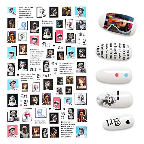 New 3D Nail Sticker Face Character Butterfly Image Abstract Nail Foil Decal Manicure Stickers for Nails Decorations