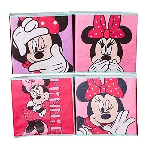 Minnie Mouse Kisten für Kinder zur Aufbewahrung von Spielzeug, Süßigkeiten rosa, 28x28x28