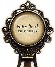Ernest Hemingway Write Drunk Edit Sober Bronze Bookmark