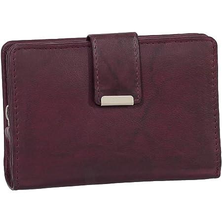RFID Damen Leder Geldbörse Damen Portemonnaie Damen Geldbeutel - Farbe Bordeaux - Geschenkset + exklusiven Ledershop24 Schlüsselanhänger
