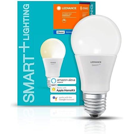 LEDVANCE Lampe LED Smart avec Bluetooth, E27, dimmable, blanc chaud (2700K), remplace les lampes à incandescence de 60W,contrôlable avec Google,Alexa et Apple Voice Control,SMART + BT CLASSIC A60