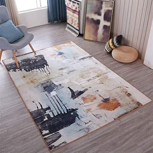 HJXSXHZ366 Sala Mesa de alfombras Cojín Pintura del Dormitorio Estudio de Estilo Chino de Tinta Retro (Size : 140cm*200cm)
