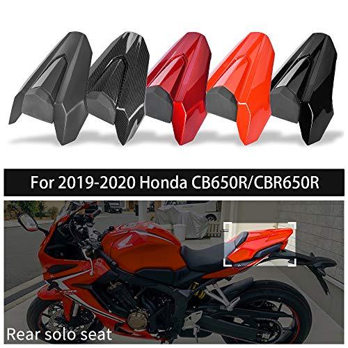 FATExpress CB650R CBR650R Accessories Motorcycle Rear Passenger Pillion Solo Seat Cowl Cover Motor Fairing Tail Section for 19 20 Honda CB CBR 650R 2019 2020 Motorbike Parts (Matte Black)