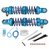 Drfeify A Pair of Shock absorbers with Hydraulic Oil and Spring Vacuum Damper RC car Accessories for Axial SCX10 / RR10 1/10 (76mm)