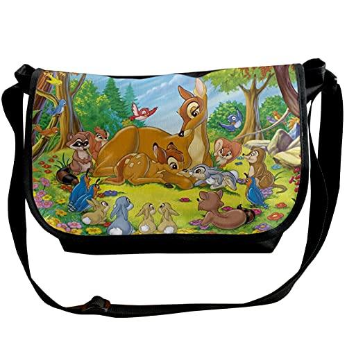 Bambi solo hombro paquete cruzado casual hombres mujeres jóvenes moda hombro ajustable diario cinturón viaje senderismo