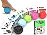Physix Sport Massage Balls - Best Spiky Ball Roller for Plantar Fasciitis , for Trigger Points in the Neck & Back Ache Relief