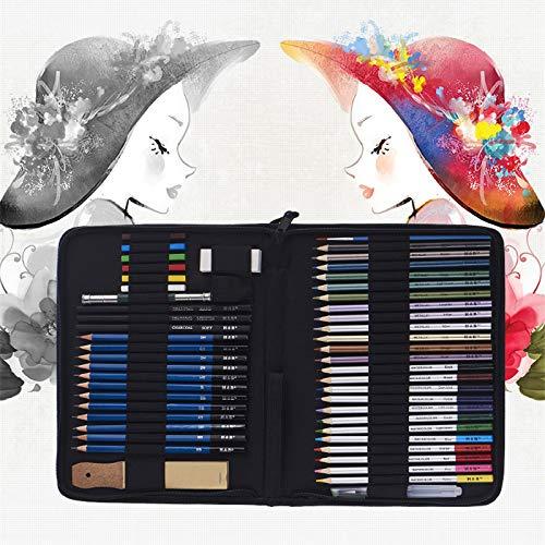 NIUPAN 51 stuks/set van kleurrijke schets potlood set tekening kit schets schilderij benodigdheden