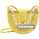 Nombre Personalizado Bolsa de Asas de Hombro Convertible Cremallera para Mujer Nylon Crossbody Satchel Bag (Color : Yellow, Size : One Size)