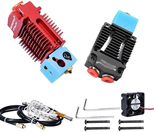 Brand new Durable Brand new Printer Parts 2 in 1 Out Fit for Hotend J-Head Extruder 3D Brand new Printer Parts Bowden Extruder Multi-Color 12V/24V 1.75MM Filament Cooling Fan VS V6 Hotend (Color : Red