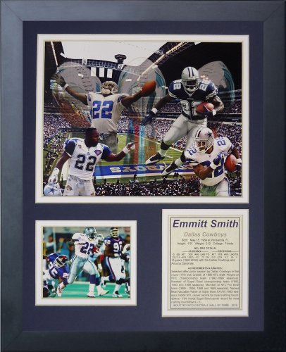 """Emmitt Smith 11"""" x 14"""" Framed Photo Collage by Legends Never Die, Inc. - Collage"""
