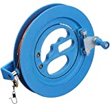 Glow Castle Children Kite Reel Winder Kite Line Kite String Winder Winding Reel Grip Wheel Professional Outdoor Kite Accessories Flying Tools of The Scroll Wheel Lock - Blue (6.2 inch)