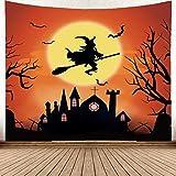Brandless Festival Tapiz Decorativo Adornos Colgantes Colgante de Pared con árbol de Halloween Colgante de Pared Tejido (230x150cm)