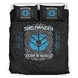 Vikings Odin Crows Juego de ropa de cama Hotel Luxury de 3 piezas, fácil cuidado, ropa de cama bohemia, blanco 7, 168 x 229 cm