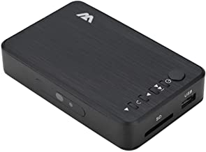 Vbestlife Reproductor Multimedia Media Player Media Player HD TV Digital 100Mbps Admite Decodificación H.264/WMV9 / VC - 1/RM/RMVB a 1080P Admite USB Drive/Disco Duro Móvil 2.5T/Tarjeta SD(Negro)