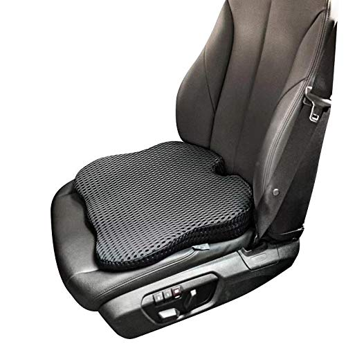 Dreamer Car Heightening Seat Cushion Pad for Car Driver Seat - Supportive and Comfortable Seat Cushion for Car Front Seat for Tailbone Pain Relief(Gray)