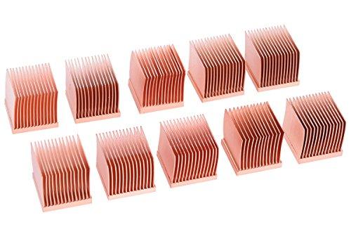 Alphacool 17427 GPU RAM Copper Heatsinks 14x14mm - 10 STK. Luftkühlung Passivkühler